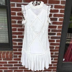 LUCKY & BLESSED iVORY SLEEVELESS LACE DRESS